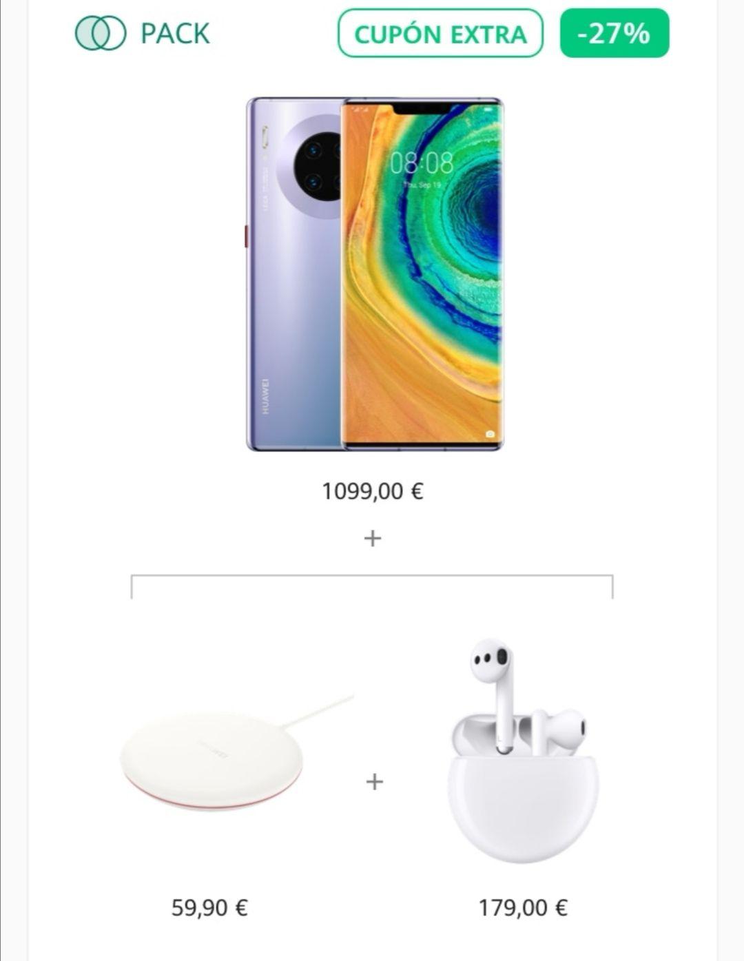 Huawei Mate 30 pro + regalo de Freebuds 3 + cargador inalambrico