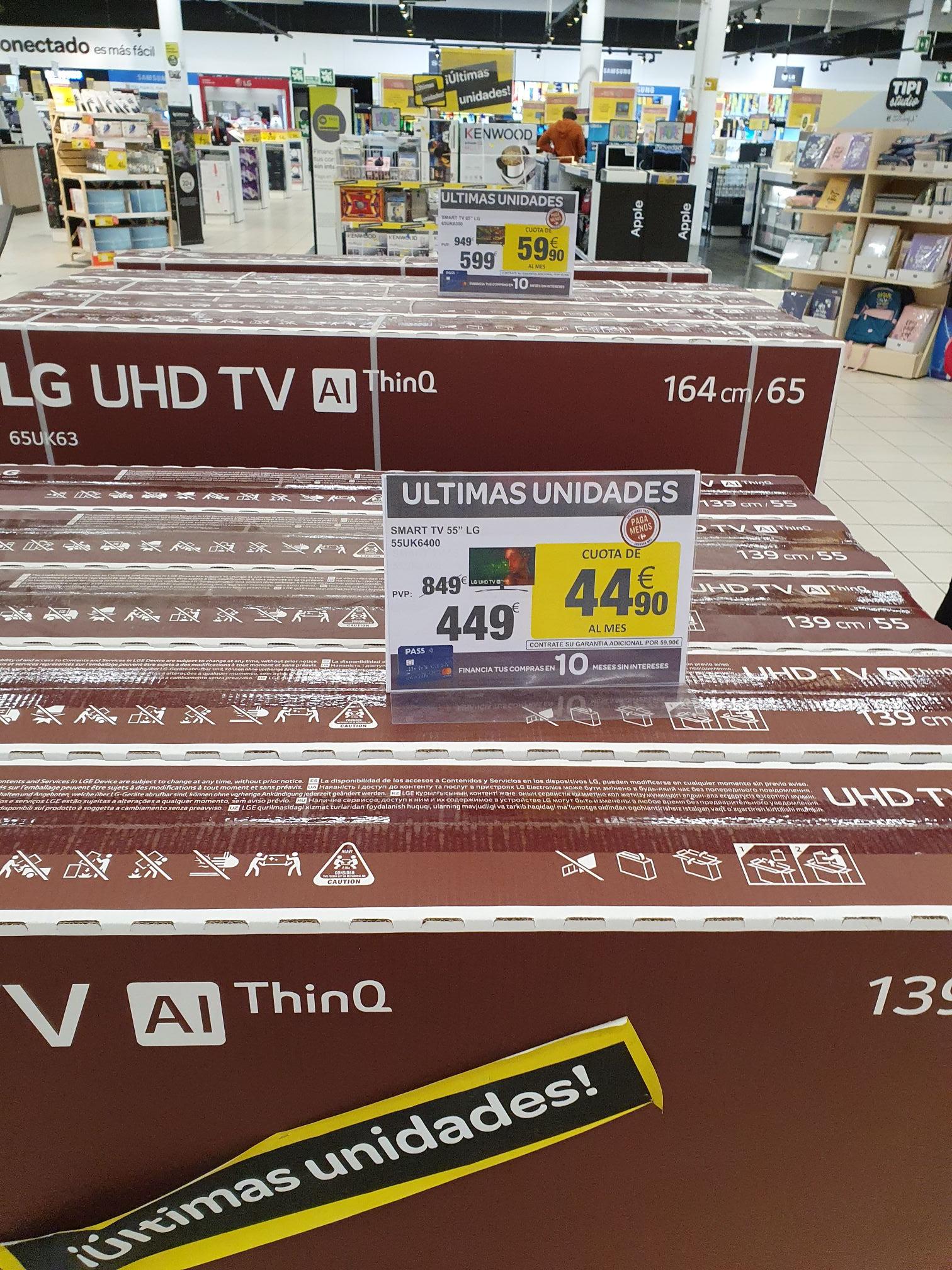 LG modelos 55uk6400 y 65uk6300 Últimas unidades (Carrefour Murcia zaraiche)