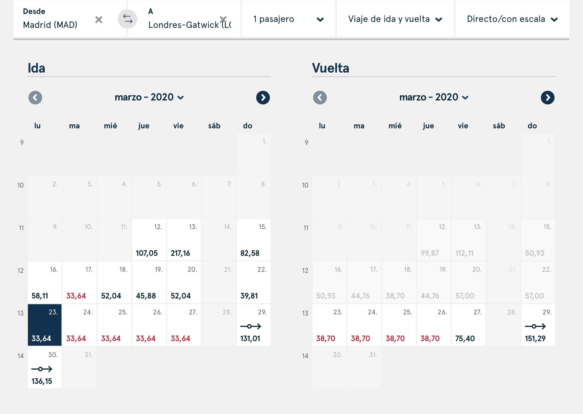 Vuelos Madrid-Londres desde 34€ con Norwegian Air