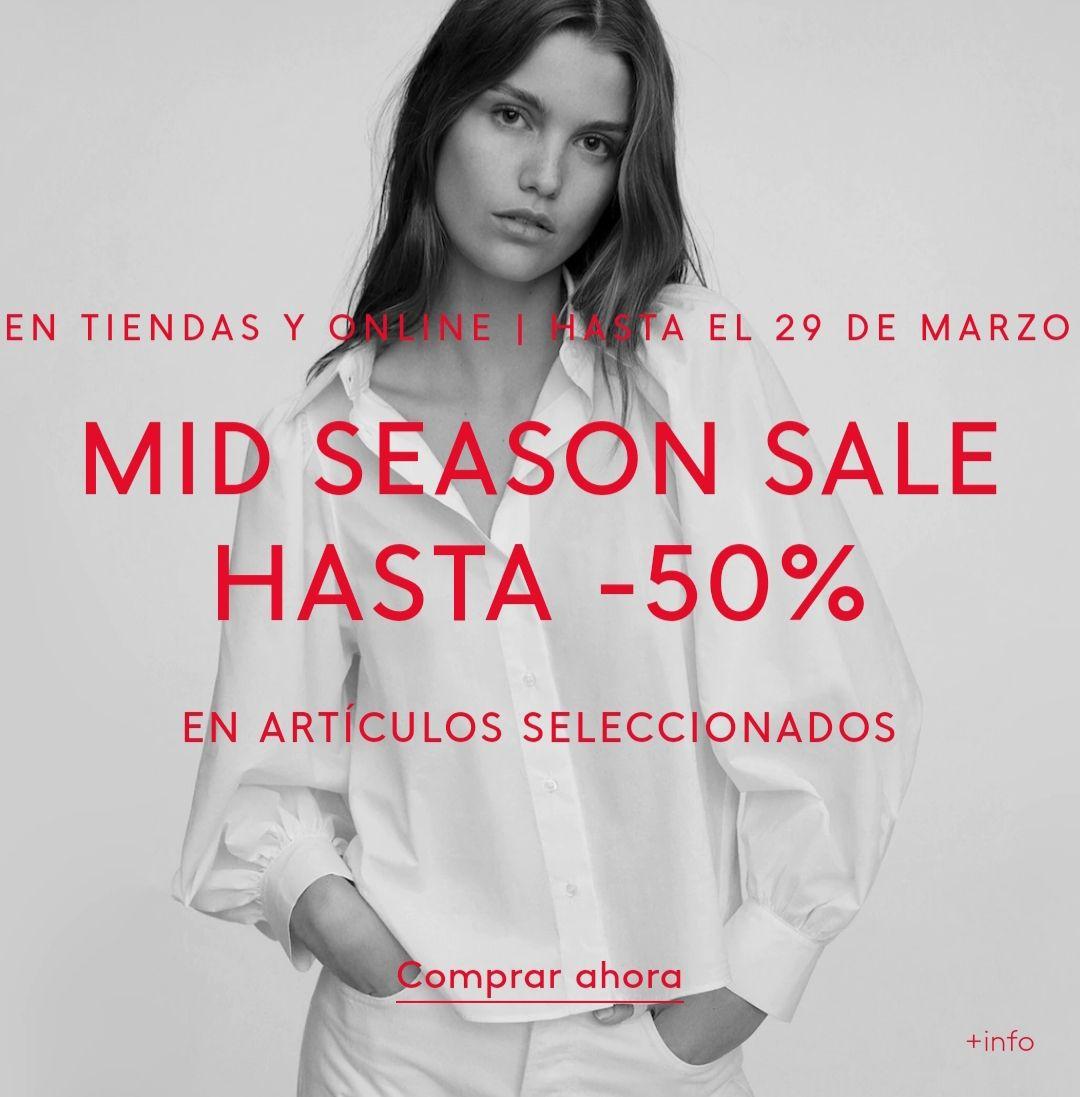 Mid Season Sale hasta 50% en MANGO