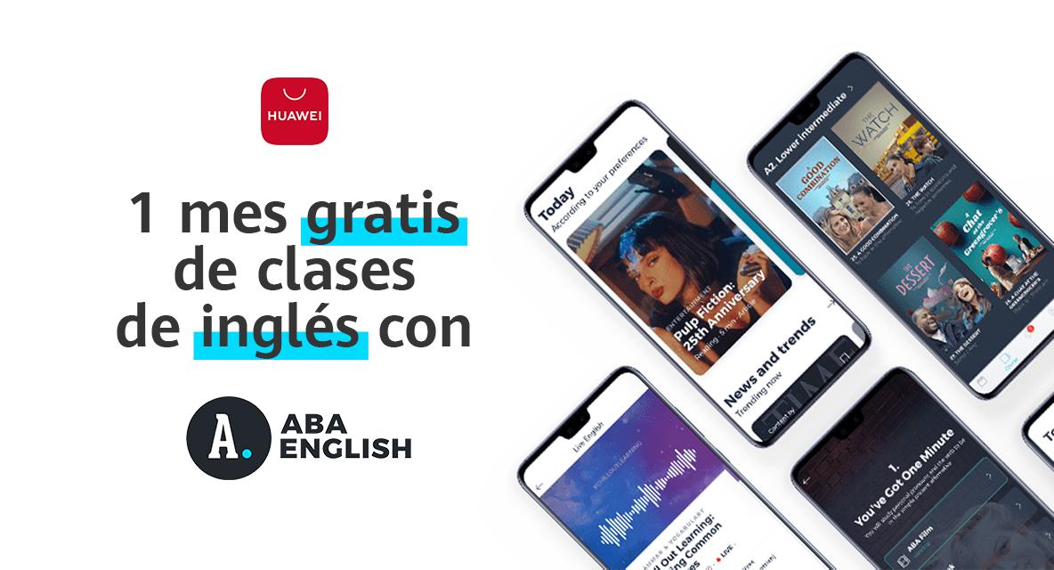 1 mes gratis ABA English (Solo Huawei y Honor)