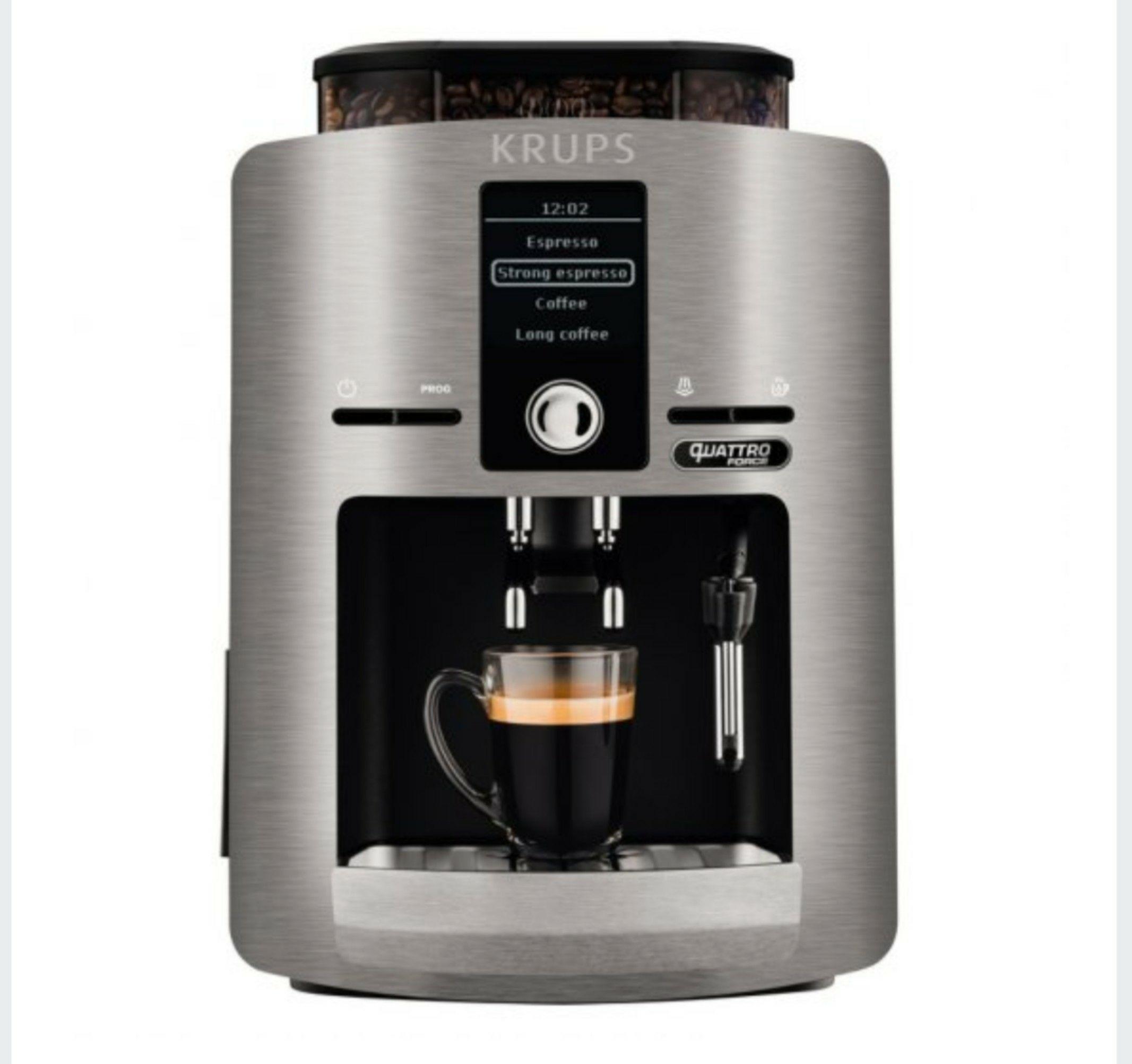 Krups EA82FB Cafetera Espresso Automática Quattro Force Plata
