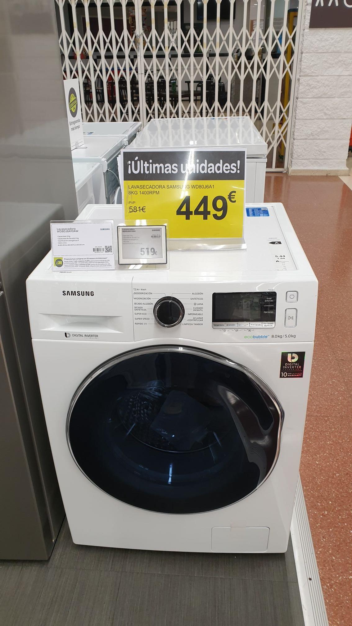 Lavasecadora Samsung wd80j6a1