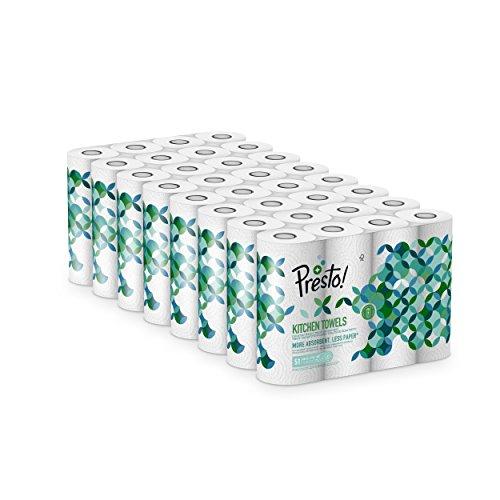Pack de 32 Rollos de Papel de Cocina Presto! (marca Amazon)