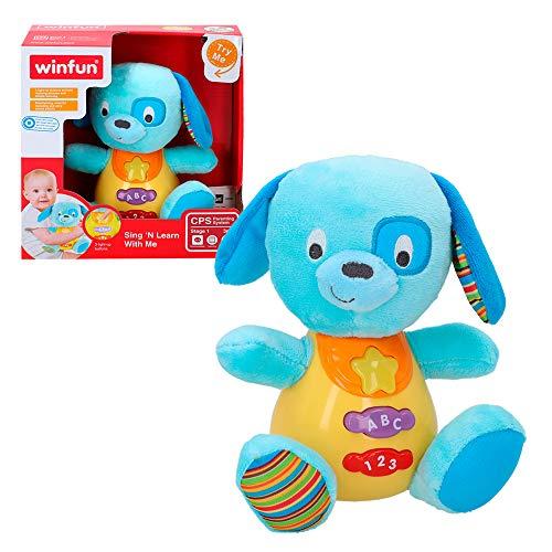 Peluche Perro para bebés que habla y luces de colores
