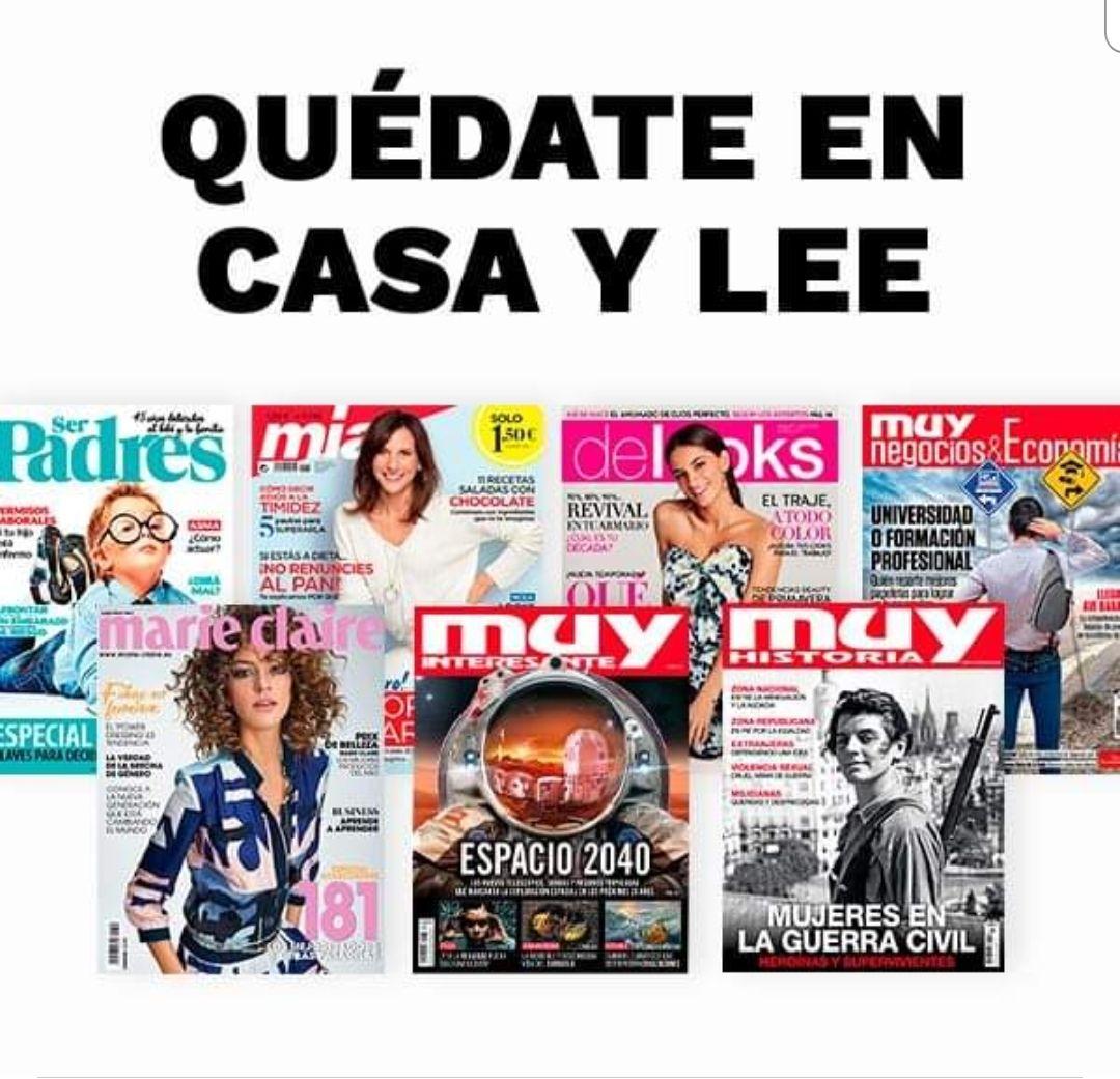 Revistas en formato digital, gratis por covid-19
