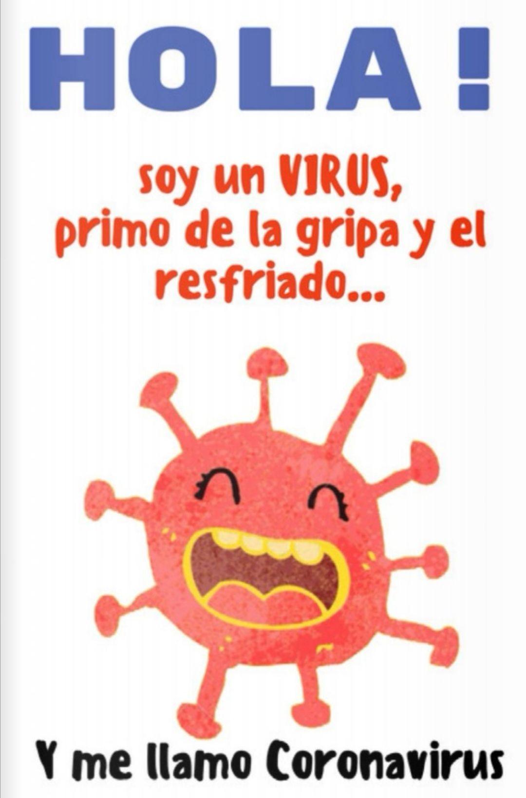 """Libro Gratuito para niñ@s """"Hola! Soy el Coronavirus ."""