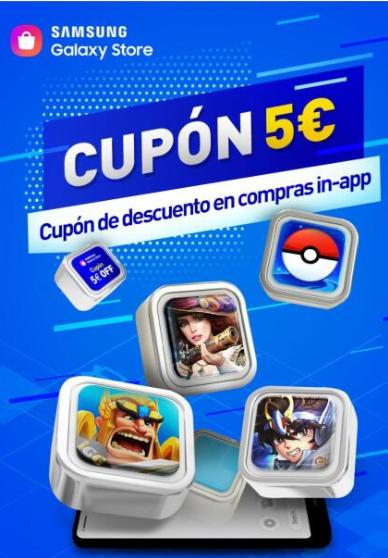 5€ gratis en apps selecionadas, promoción Samsung