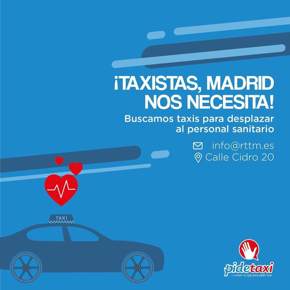 Taxis gratuitos para sanitarios y a 1€ para jubilados