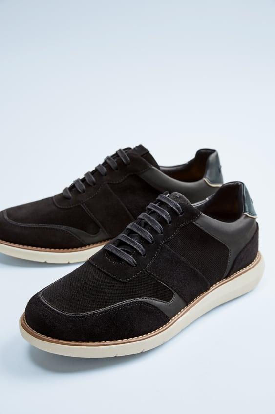 Zapatos de piel para hombre Zara