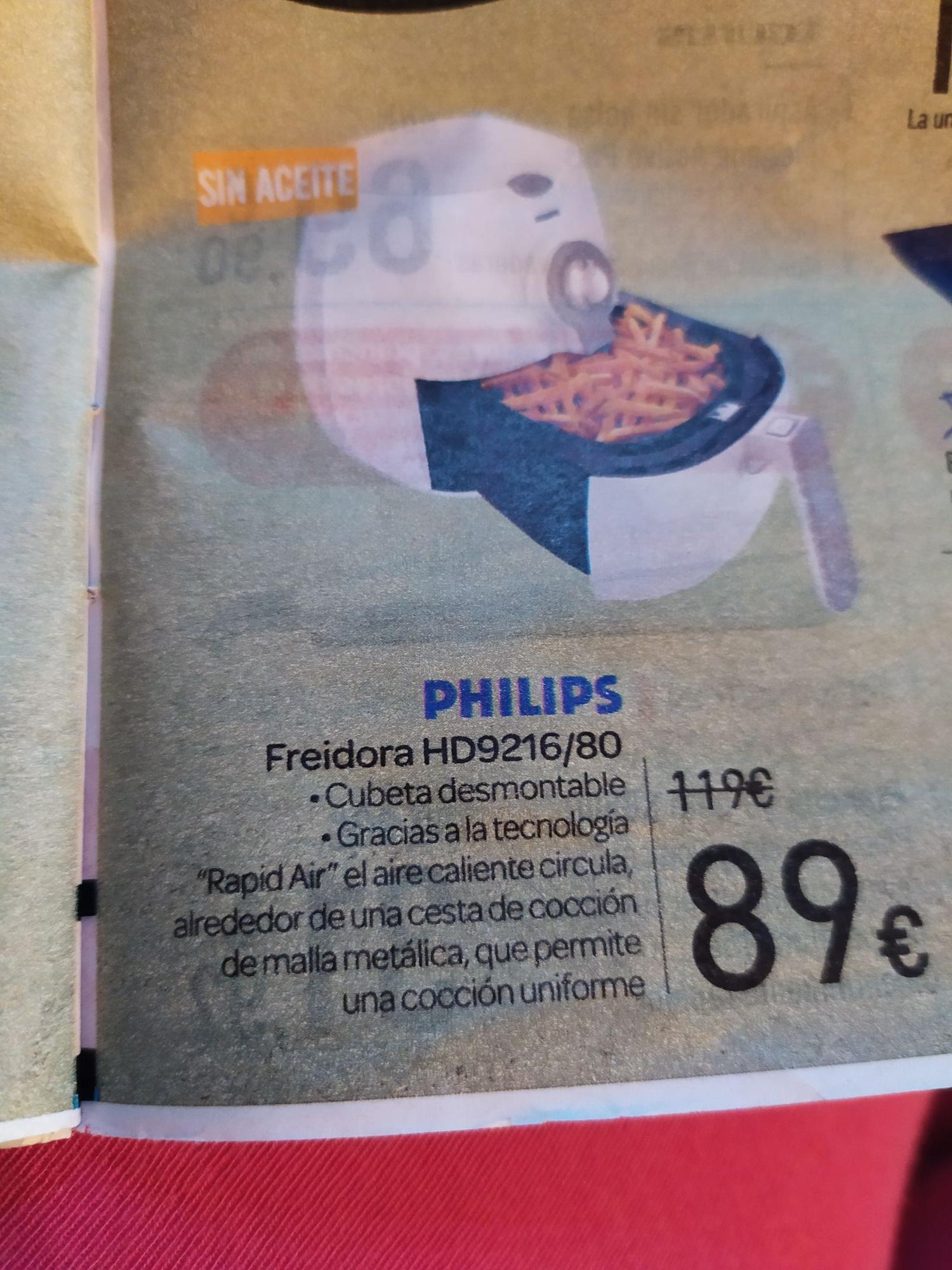 Freidora de aire Carrefour ( folleto Andalucía)