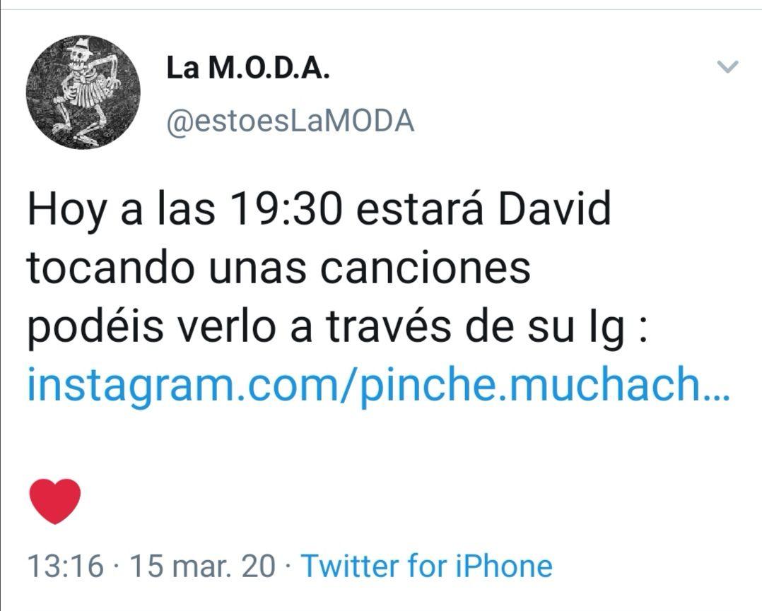 CONCIERTO LA M.O.D.A 19:30 Instagram (La Maravillosa Orquesta del alcohol)