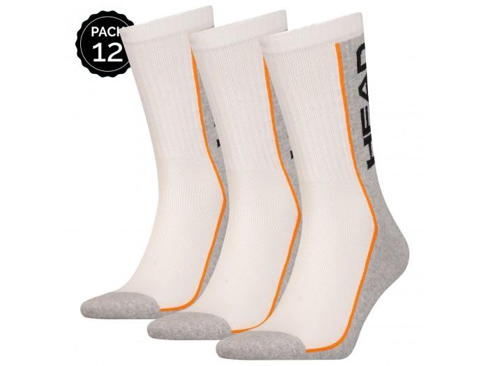 Pack de 12 pares de calcetines HEAD en color blanco y gris