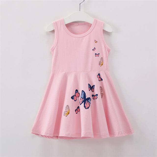 Vestidito rosa para niñas de 2 a 8 años