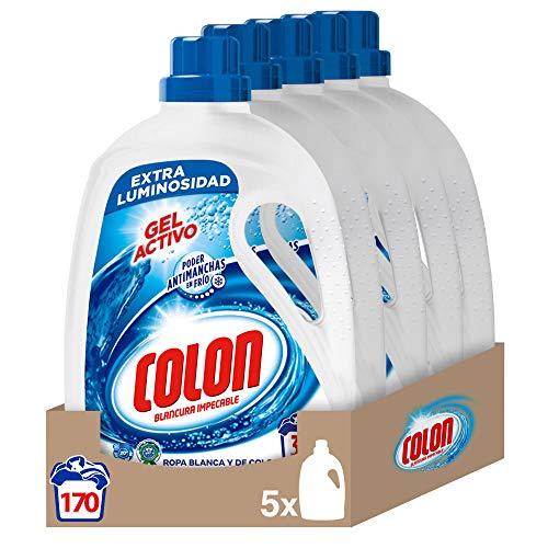 5 unidades x 1,70 L de Detergente Colon Concentrado para la Ropa Gel Activo, total de 170 dosis