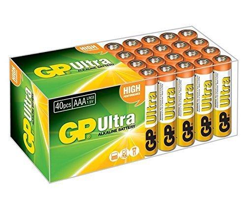 GP BateríaUltra Alcalina 40x AAA Alcalino 1.5V batería