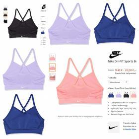 Nike Dri-FIT Sports Bra G Sujetador Deportivo, Niñas en 4 colores ordenado por tallas mas asequibles.