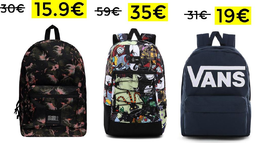 Descuentos en selección de mochilas