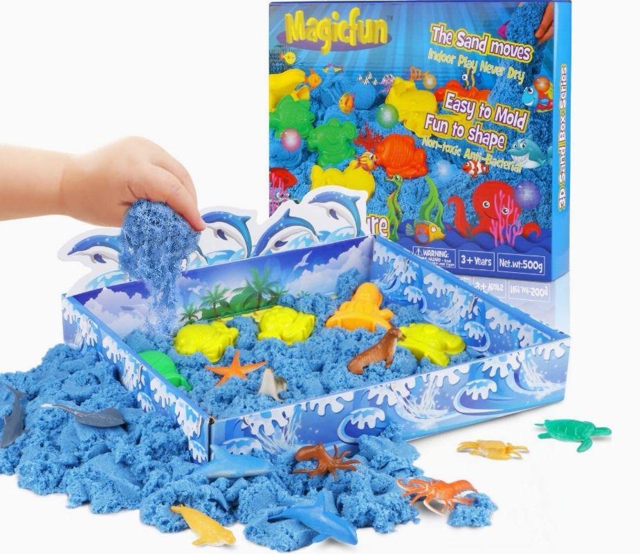 Juego de arena 3D Ocean Series-Sand con moldes incluidos.(2 Modelos)