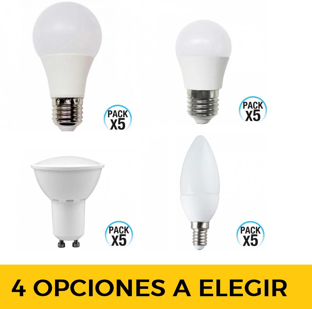 Packs de 5 bombillas LEDs con envío gratuito