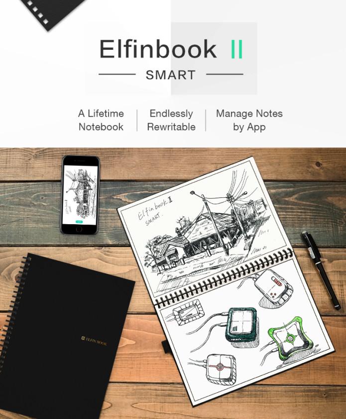Elfinbook 2.0 Cuaderno inteligente borrable multiusos
