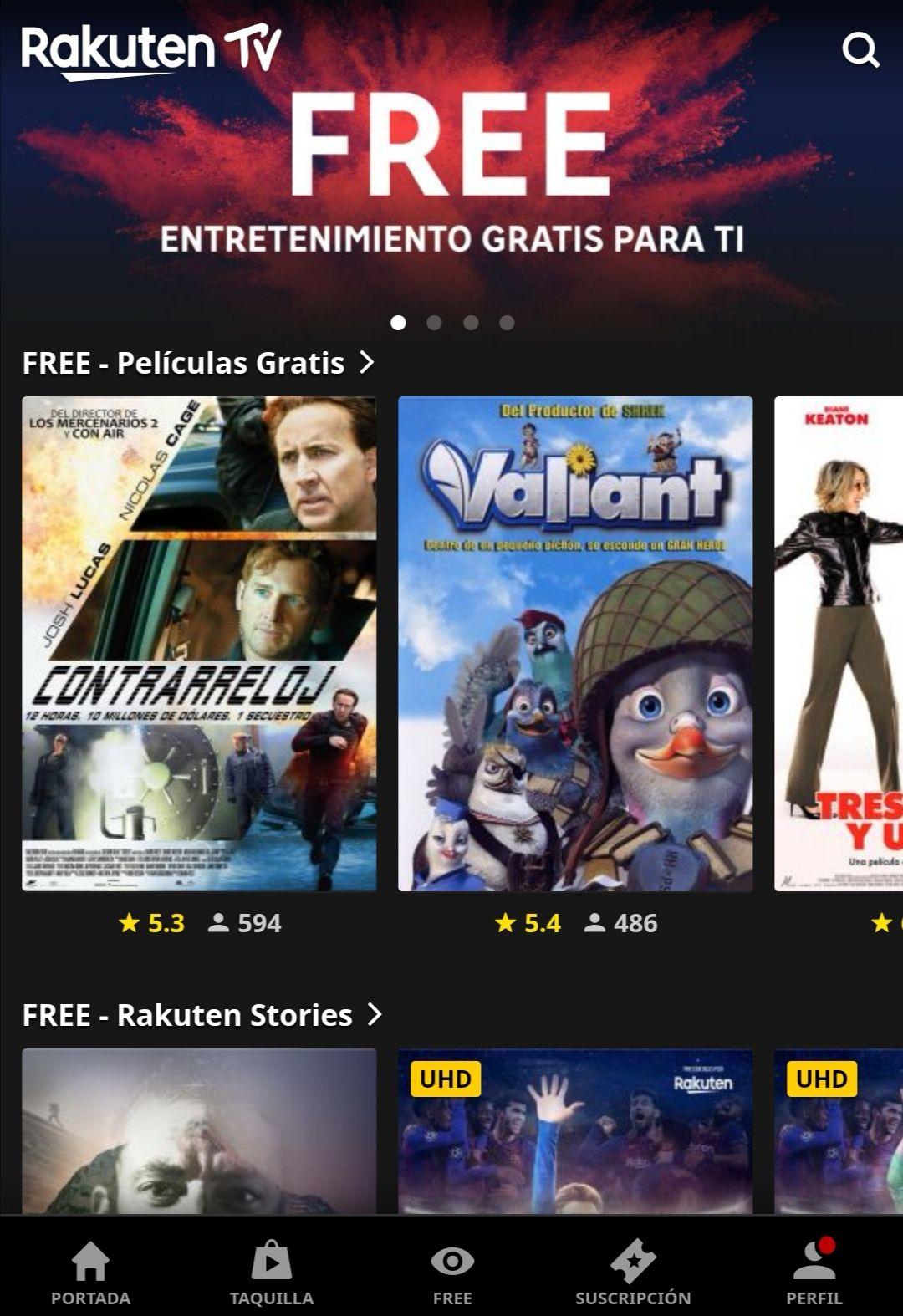 Películas gratis en Rakuten.tv