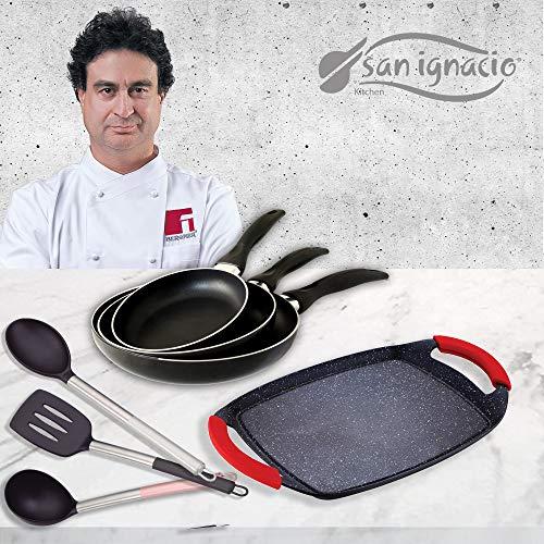 San Ignacio Cune Sip Set 3 Sartenes + Plancha Grill + 3 Utensilios