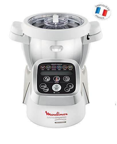 Moulinex Cuisine Companion HF802A - Robot cocina con 6 programas automáticos, 4,5 L de capacidad 6 personas, 12 velocidades