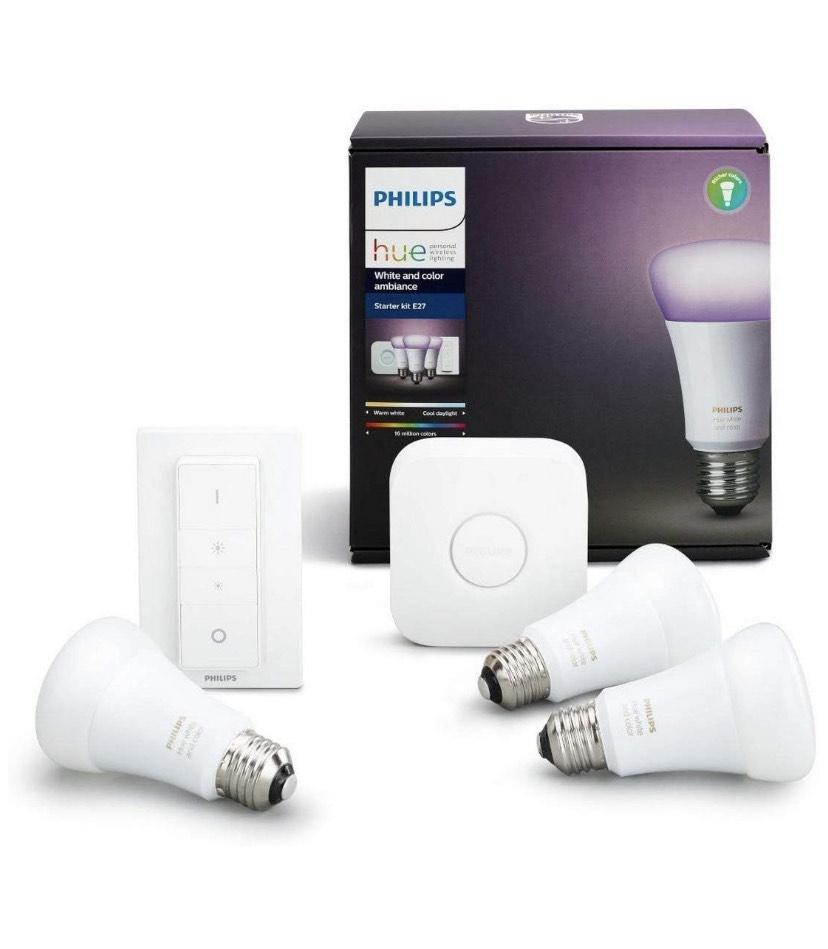 Philips Hue: 3 bombillas + Puente + Mando