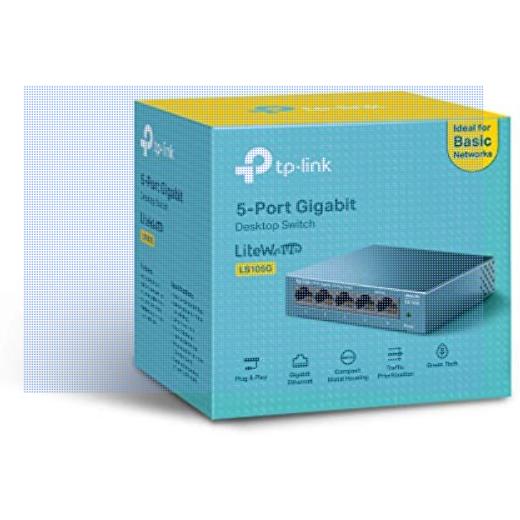 TP-Link Switch 5 Puertos 10/100/1000 (LS105G)