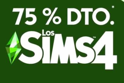 75% de descuento en los sims