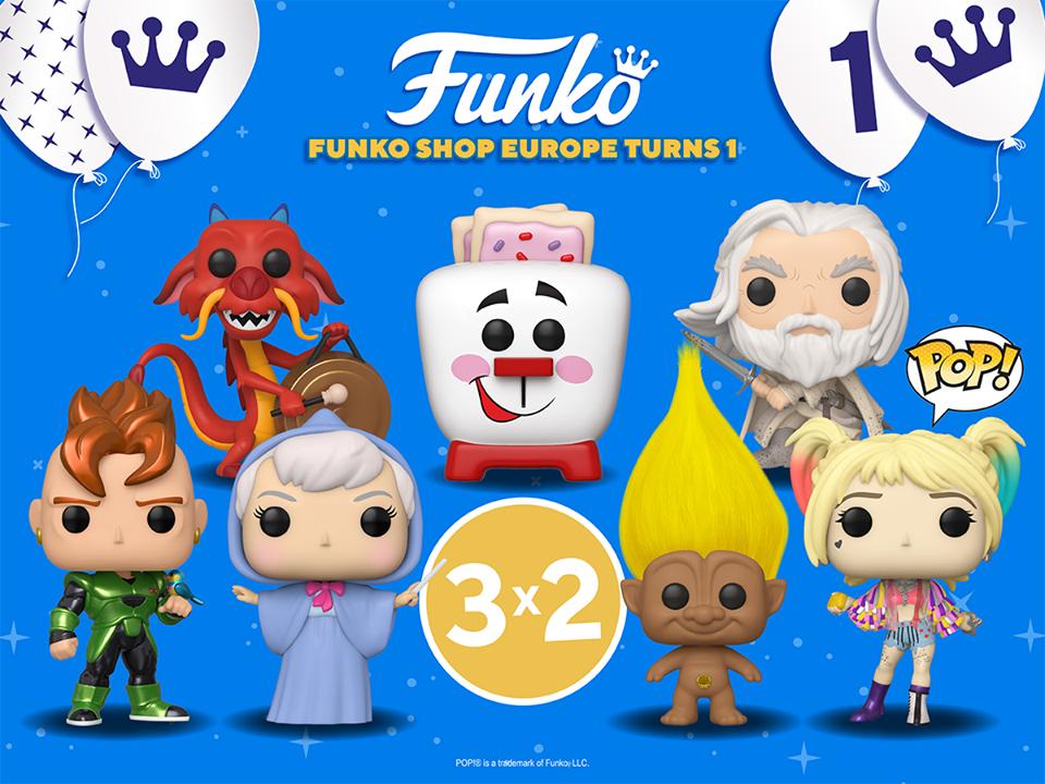 3x2 en Funko Pops