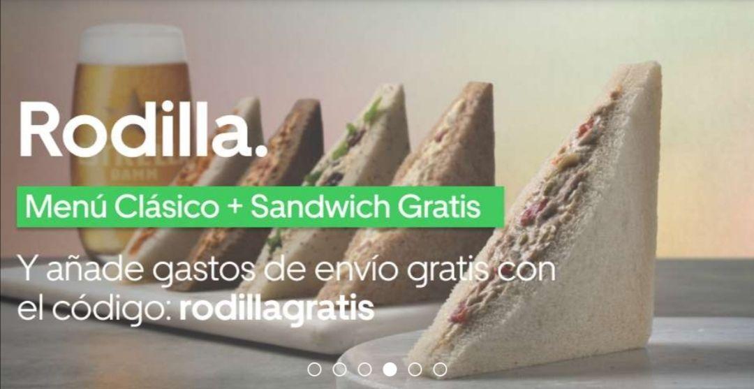 Sándwich gratis al pedir el menú clásico + Envío gratis (UBER EATS)