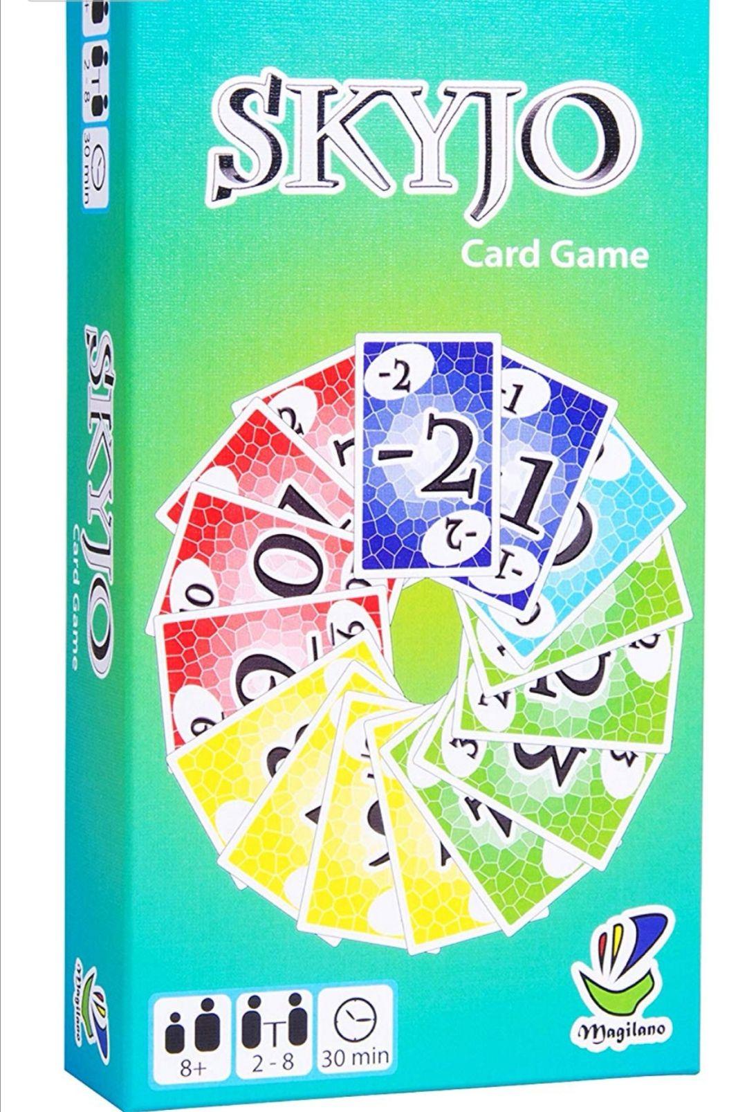 SKYJO - Juego de cartas para niños y adultos.