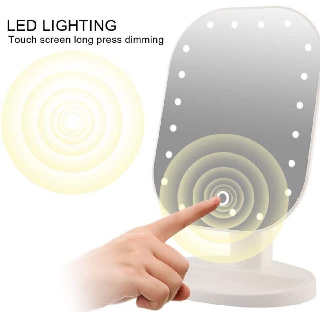 Espejo de aumento de 10x con 20 luces LED