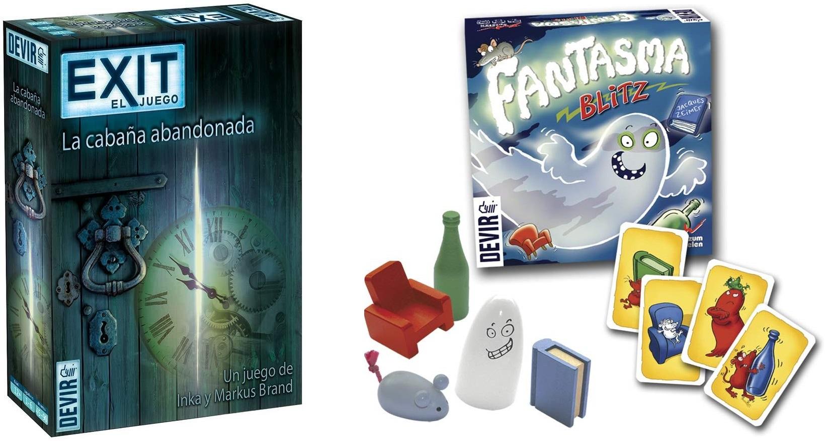 Juegos de mesa Devir - Fantasma Blitz + Exit: La cabaña abandonada