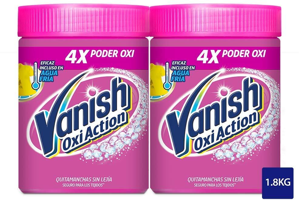 Vanish Oxi Action Quitamanchas lavadora - usar junto detergente lavadora y suavizante ropa - fórmula sin lejía - paquete de 2 x 900 gr