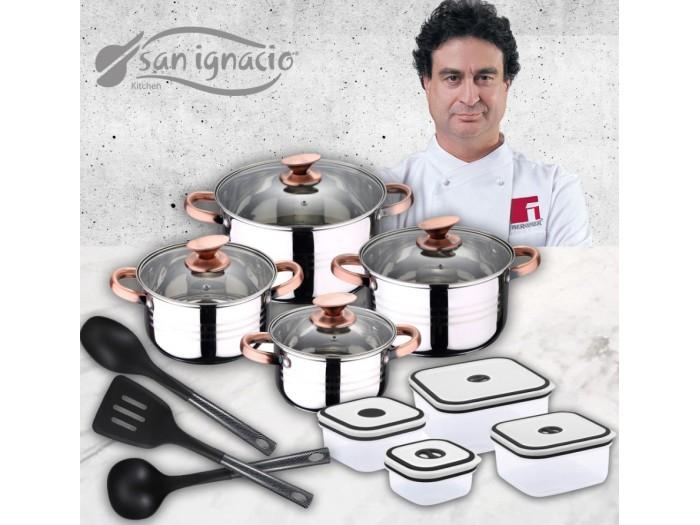 Juego de cocina san ignacio 15 piezas