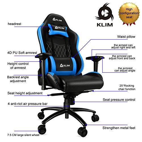 Silla gaming KLIM eSports / KLIM 1s (Diferentes colores y modelos)