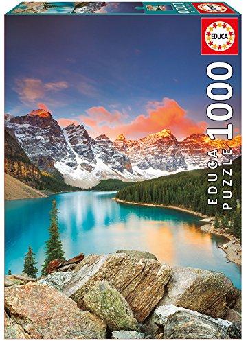 Educa Borrás Puzzle 1000 Lago Moraine, Banff National Park, Canadá