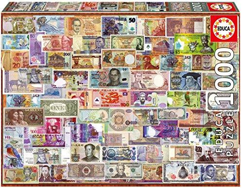 Educa Borrás Puzzle 1000 piezas, Billetes del Mundo (