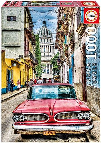 Puzzle 1000 piezas La Habana, estilo dibujo comic