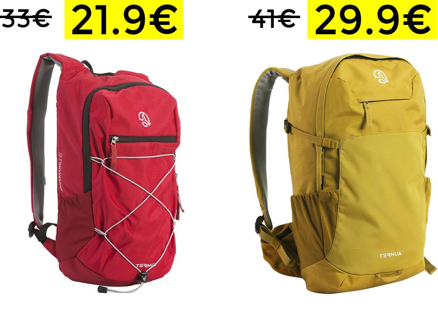 Descuentos en mochilas Ternua solo 21.9€