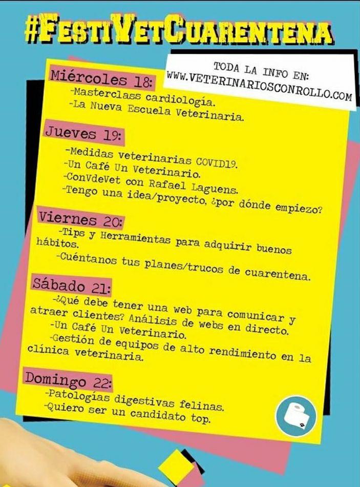 Formación y actividades gratis para veterinarios y para el que le interese!