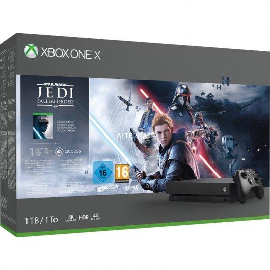 """Xbox One X 1TB SW Jedi Fallen Order + Monitor Dell Gaming 24"""" + Mando Xbox Blanco"""