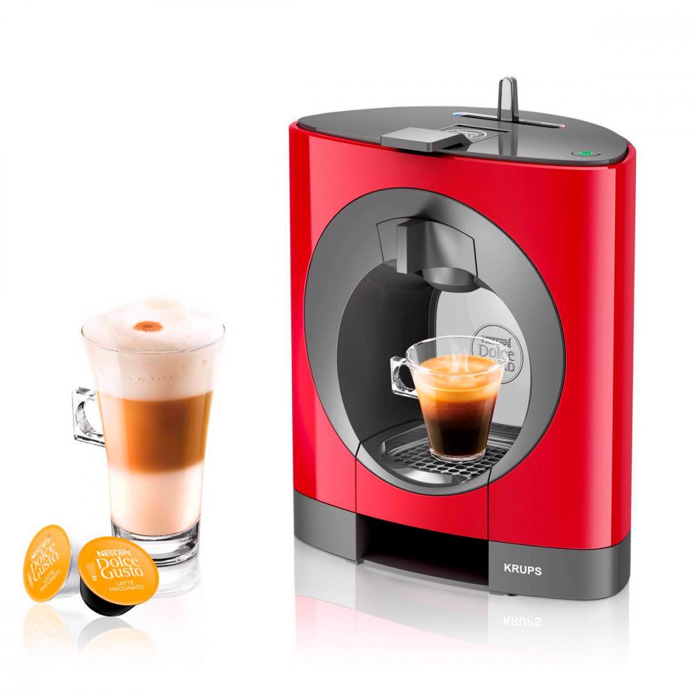 Cafetera KRUPS KP1105 Nescafé Dolce Gusto Oblo - Roja, Manual