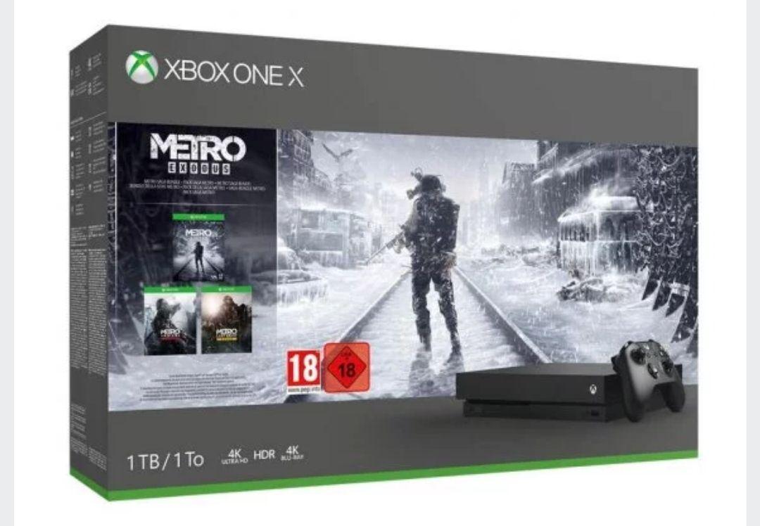 Microsoft Xbox One X 1TB + Metro Exodus Collection(3 juegos)