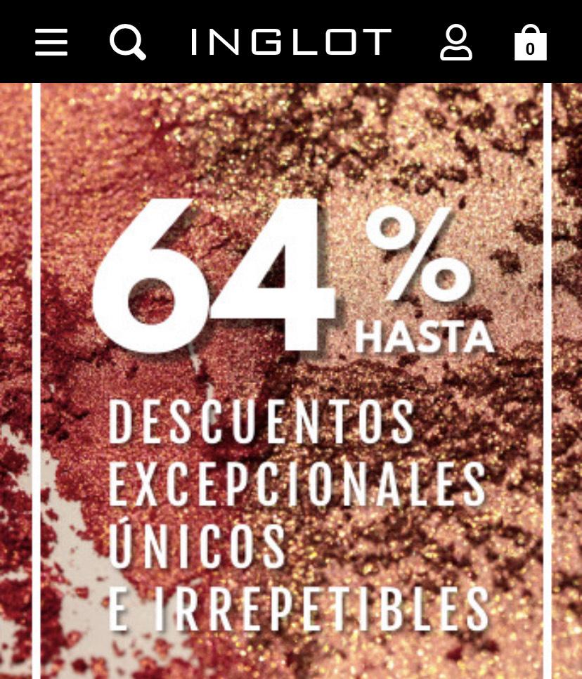 Cosmética Inglot - Descuentos de hasta el 64%