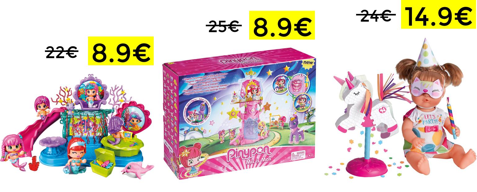 Preciazos en juguetes Pinypon y Nenuco