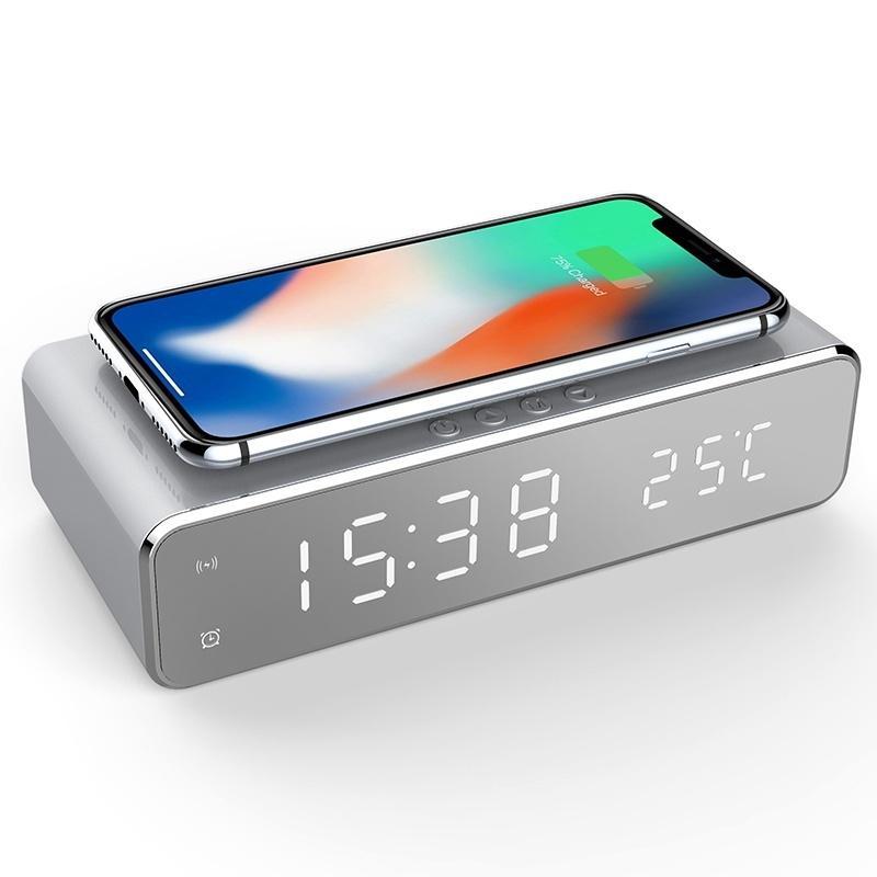 USB Cargador inalámbrico LED con Despertardor e indicador de Temperatura por menos de 10 €